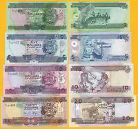 Solomon Islands Set 2, 5, 10, 20 Dollars UNC Banknotes