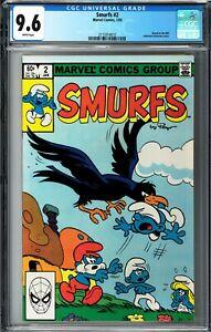 Smurfs #2 CGC 9.6 (Jan 1983, Marvel) Based on NBC TV Cartoon Series, by Peyo