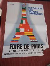 AFFICHE ANCIENNE FOIRE DE PARIS 1974 ILLUSTRATEUR FIX MASSEAU ( ref 42 )