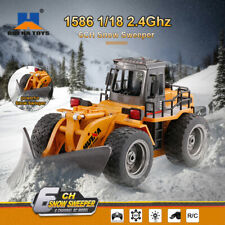 1586 6CH 1/18 2.4G RC Car Metal Snow Sweeper Charging Tractor RC Truck Plow X4G2