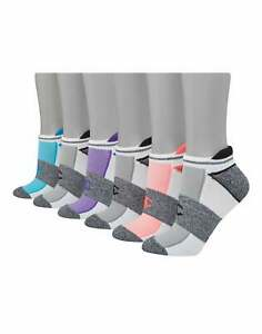 Champion Women's Athletics Heel Shield® Socks, 6-pairs White/Assorted Logos 9-11