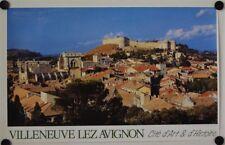Affiche Tourisme France VILLENEUVE LEZ AVIGNON Cité d'Art & d'Histoire