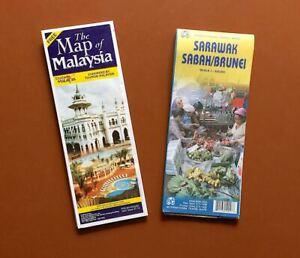 Two Maps of Malaysia / Sabah / Sarawak / Brunei
