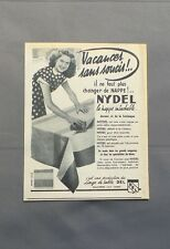 PUB PUBLICITE ANCIENNE ADVERT CLIPPING 130517 / LA NAPPE INTACHABLE NYDEL