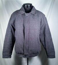 Amana Woolen Mills Coat Lined Full Zip Wool Grey Men's Size Medium