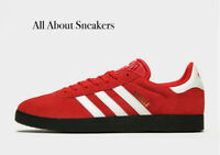 """Adidas Gazelle """"Red-White"""" Trainers All Sizes Limited Stock"""