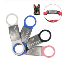 Universal Dog Cat Collar Tag Personalised Engraving Tag Collars
