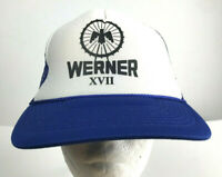 Vintage Werner XVII Mesh Trucker Snapback Baseball Hat Ball Cap Blue White Eagle