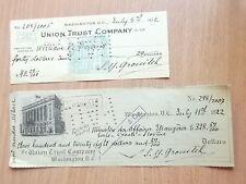 Union Trust Company 1922 USA Washington DOLLAR COLUMBIA DISTRICT MINISTRY AFFAIR