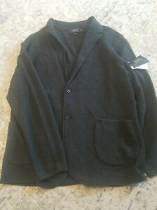 Polo Ralph Lauren Gray Merino Wool Textured Cardigan Sweater Blazer XL NWT $248