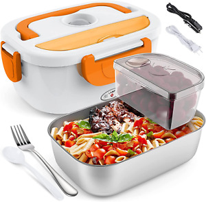 Electric Lunch Box for Car and Home COCOBELA Portable Food Warmer, 55W Faster Fo