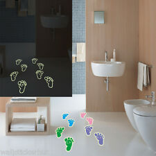 Glow in Dark Foot Prints UK Wall Sticker