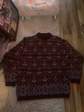 Vintage Rare Benetton Wool Flower 🌹 Print Sweater made in Italy M/L