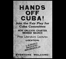 1963 Lee Harvey Oswald Fair Play Cuba Flyer PHOTO John F Kennedy Assassination