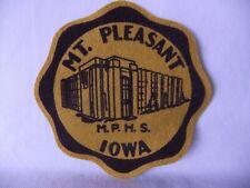 Mt. Pleasant Iowa High School Felt Patch M.P.H.S. 5 3/4 inch Vintage 1970's 80's