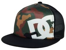 DC SHOES - LANAI MESH SNAPBACK TRUCKER HAT CAP - Woodland Camo