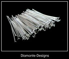 200 x 30mm Silver Plated Head Pins Jewellery Bead Craft Findings R61