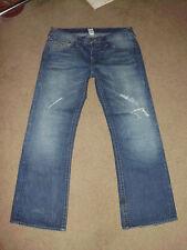 TRUE RELIGION Men's BILLY 38 x 34 Motor Psycho wash Triangle Bootcut TR Jeans
