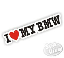 I Heart Love My BMW Sticker Car Decal X1 X3 X5 X6 X7 Z3 M3 M4 M5
