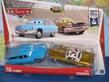 DISNEY PIXAR CARS MRS THE KING #5/18 & TEX DINOCO #6/18  PISTON CUP 2 PACK NEW