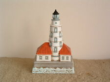 Geo. Lefton Musical Chicago Harbor Lighthouse #10627 Wind-Up Plays Ebb Tide