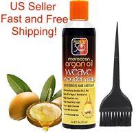 SalonPro 8oz Argan Oil Weave Wonder Wrap Hair Glue Protectant Moisturizing Hair