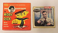 MOBY DICK + THE MAN CALLED BOGART  - TWO 8mm Films in Original Home Movie Boxes!