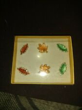 Pier 1 Candle Jewelry Colored Set 6 Decorative Candle Accents in Box