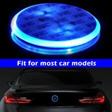 Badge Background LED Light Emblem Logo sticker Blue 82mm For BMW 3 5 7 X Series