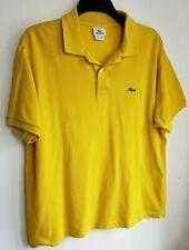 Top Camisa Polo Lacoste para Hombres 3XL Talla 7 Amarillo Manga Corta 417