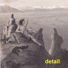 orig engraving F. W. Egloffstein, Franklin Valley, Humboldt Mts Native Americans