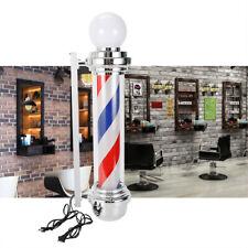 "Barber Shop Sign 32"" Rotating Stripes Pole Light Hair Salon Wall-Mounted Us Plug"