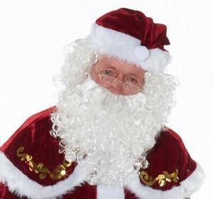 Santa Claus Perücke und Bart - Modell 1 - Nikolaus Weihnachtsmann