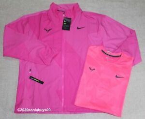 Nike Men's Rafa Nadal Court Jacket & AeroReact Tennis Top, Fuchsia/Pink, Size M