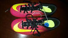 Nike JR Mercurial Vapor XI FG Youth 2 Soccer Cleats Football Shoes Crimson New