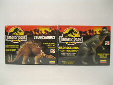 Brand New Sealed Vintage Jurassic Park Lot of 2 Stegosaurus and Hadrosaurus