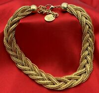 """Erwin Pearl Gold Tone EP Choker Necklace Statement Piece 17"""" 20-901"""