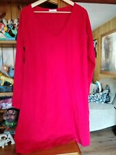 American Vintage Red Dress Size Large With Matching Tie. Excellent Condition