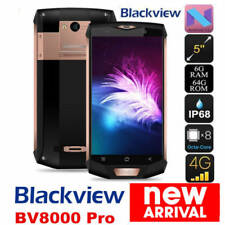 "IP68 5.0"" Unlocked 6GB+64GB Blackview BV8000 Pro Smartphone 4G Android 7.0 16MP"
