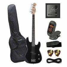 Customer Returned Artist PB34 Black 3/4 Size Electric Bass Guitar With Accessori