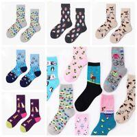 Jacquard Women Cartoon Animals Socks Novelty Pattern Funny Art Cotton Stocking
