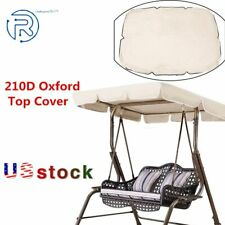 Sunshade Outdoor Swing Top Cover Canopy Replacement Oxford Garden Rainproof  US
