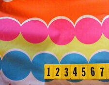 Cotton Fabric Multi-coloured Spot Stripe Print - 100cm x 150cm - New by Dcf