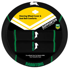 SOUTH SYDNEY RABBITOHS Official NRL Steering Wheel Cover and Seat Belt Cover Set
