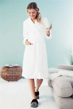 NEW NEXT LADIES WOMENS WHITE TEXTURED ROBE DRESSING GOWN SMALL LONG LENGTH TALL