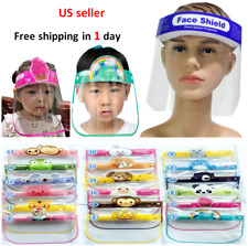Safety Face Shield Cover Anti Splash Clear Reusable Adult/Kids Child Face Mask