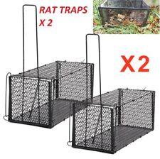 2 X Colector De Rata Ratón Trampas De Metal Plegable Animal Roedor Jaula interior al aire libre 24