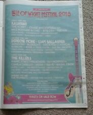 Isle of Wight Festival 2018 Full Page Newspaper POSTER kasabian depeche mode