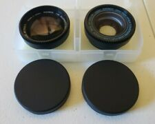 Lot Of 2 Raynox Camcorder Lenses Telephoto Wide Angle Made in Japan Vintage