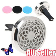 Stainless Car Air Vent Freshener Essential Oil Diffuser Locket Aromatherapy BO